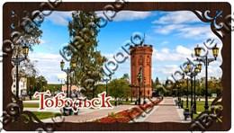 Купить купюрницу из дерева прямоугольную с видами города Тобольск
