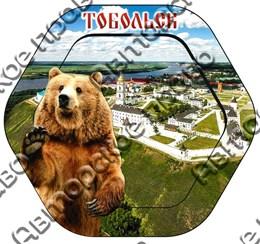 Шкатулка 6-гранная с видами города Тобольск 2