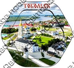 Шкатулка 6-гранная с видами города Тобольск 1