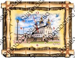 Часы бамбук с видами города Тобольск