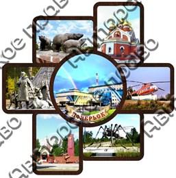 Тарелка панно с видами города Ноябрьск 2