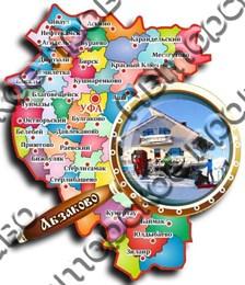Магнит «карта с лупой» №3 Абзаково