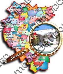 Магнит «карта с лупой» №4 Абзаково