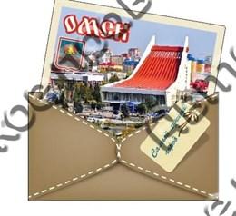 Купить магнитик из дерева Омск конверт вид 1
