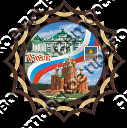 Купить панно из дерева Омск с видами города 1