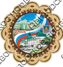 Купить панно из дерева Омск с видами города 3