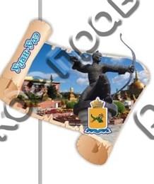 Купитьмагнитик Из дерева Улан-Удэ свиток фигурный с видами города вид 2