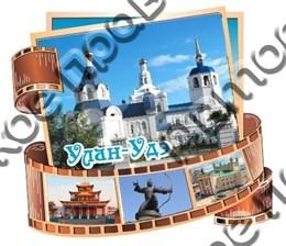 Купить магнитик Из дерева Улан-Удэ фотоколлаж с достопримечательностями 1