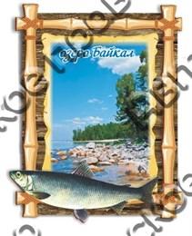 Купить магнитик Из дерева Улан-Удэ Бамбук Байкал 6
