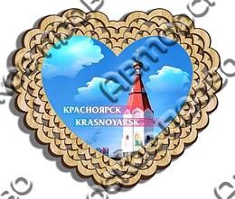 Магнит тарелочка 10см вид 5 с символикой Красноярска