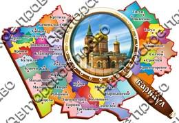 """Магнит цветной """"Карта с лупой""""г.Барнаул01"""