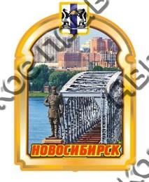 Магнит Рамка с достопримечательностями Новосибирска