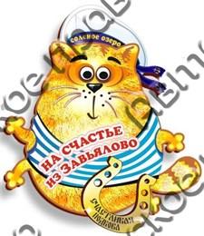 Магнитик цветной кот с зеркальной подковой Завьялово