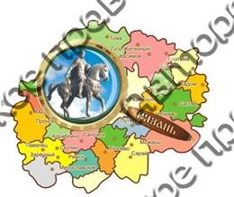 """Магнитцветной """"Карта с лупой"""" г.Рязань2"""