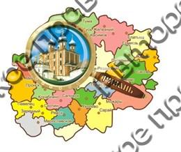 """Магнитцветной """"Карта с лупой"""" г.Рязань1"""