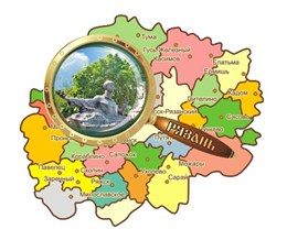 """Магнитцветной """"Карта с лупой"""" г.Рязань3"""