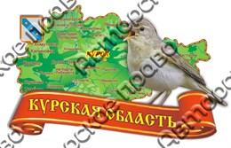 магнит цветной карта соловей 2-х слойный г.Курск