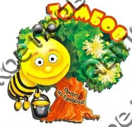 магнит цветной 2-х слойный пчелка 2 Тамбов