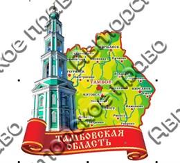магнит цветной карта 07 Тамбов