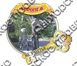 Магнит с зеркальным ключом г.Воронеж 3
