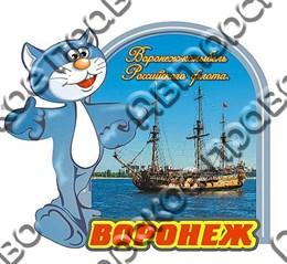 Магнит 2-х слойный с котом г.Воронеж 1