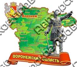 """Магнит """"Карта"""" г.Воронеж 1"""