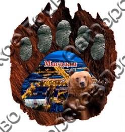 Купить магнитик из дерева Магадан мишка лапа 6