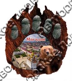 Купить магнитик из дерева Магадан мишка лапа 5