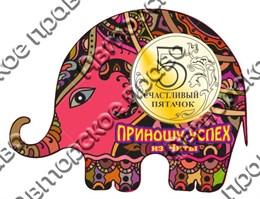Купить магнитик цветной из дерева Чита слон 2