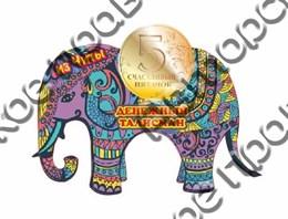 Купить магнитик цветной из дерева Чита денежный слон 1