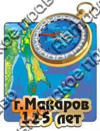 """Магнит """"Карта с компасом"""" г.Макаров 1"""