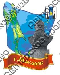 Купить магнитик Макаров карта с гербом