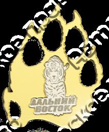 Купить магнитик зеркальный Дальний Восток Тигр и след тигра 4