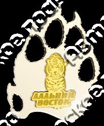 Купить магнитик зеркальный Дальний Восток Тигр и след тигра 3