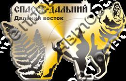 """Магнит зеркальный """"Дальний восток """" г.Спасск-Дальний3"""
