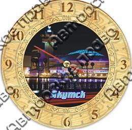 Часы круглые 15 см 2-хслойные с видами Якутска