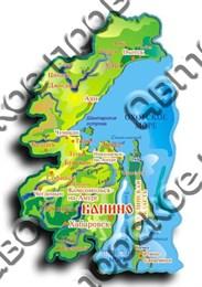 """Магнит """"Карта 3 D"""" Ванино 1"""