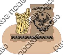 Карандашница с зеркальной деталью большая - Пара в танце Дагестан