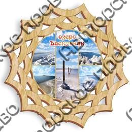 Тарелка-панно 25 см вид 2 с символикой Баскунчак
