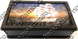 Шкатулка прямоугольная с картинкойвид 1 3Д 135х95х70 мм Голубицкая