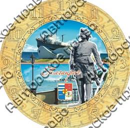 Часы деревянные с гравировкой и картинкой вид 2 Таганрог