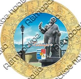 Часы деревянные с гравировкой и картинкой вид 1 Таганрог