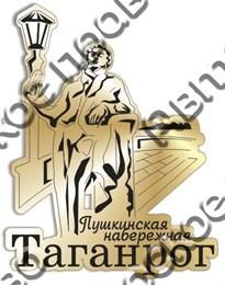 Магнит зеркальный Пушкинская набережная Таганрог