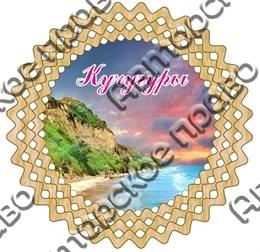 Тарелка-панно 25см вид 1 с символикой Кучугуры