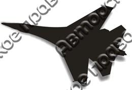 Магнит пластик Самолет вид 2
