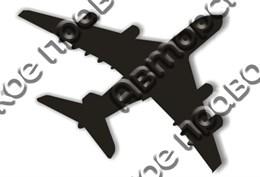 Магнит пластик Самолет вид 3