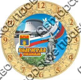 Часы деревянные с картинкой250мм Волгоград3