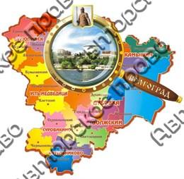 Магнит Карта с лупой 5, Волгоград