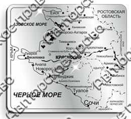 магнит зеркальный Карта Кубань