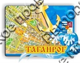 """Магнит """"Карта с зеркальным якорем"""" г.Таганрог 1"""